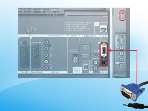 TV-Anschlüsse PC-Anschluss ©COMPUTER BILD