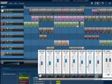 Magix Music Maker for MySpace: Screenshot der Tonspuren
