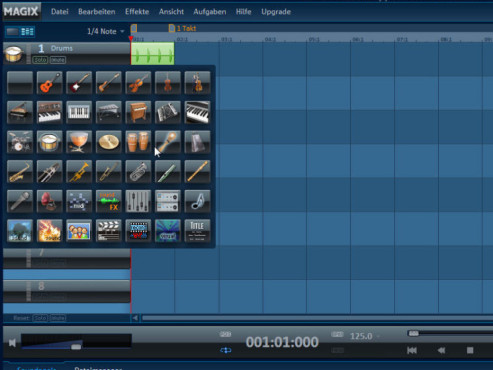 Magix Music Maker: Screenshot Grafik-Symbole