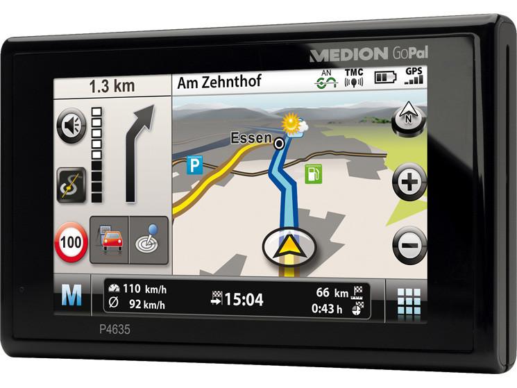 Medion GoPal P4635: Navi mit Live-Verkehrsinfos GSM ...