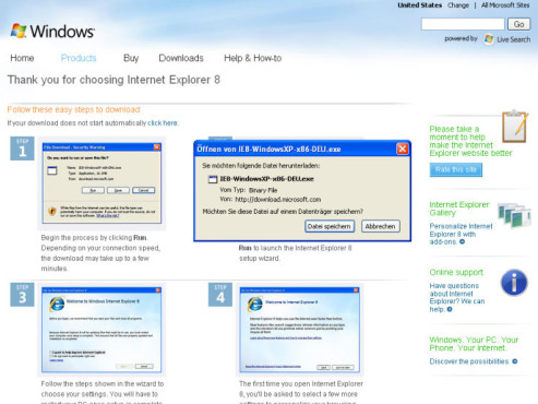Internet Explorer 8: Download