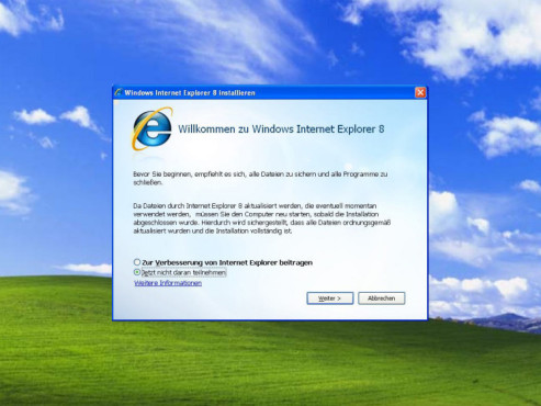 Internet Explorer 8: Installation