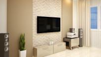 Fernseher an einer ungeeigneten Wand anbringen ©podsolnykh- Fotolia