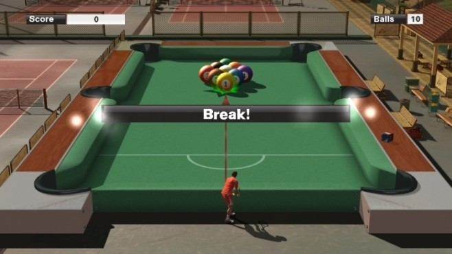 Sportspiel Virtua Tennis 2009: Billard