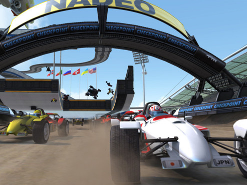 Gratisspiele Trackmania Nations Forever: Staub © Nadeo