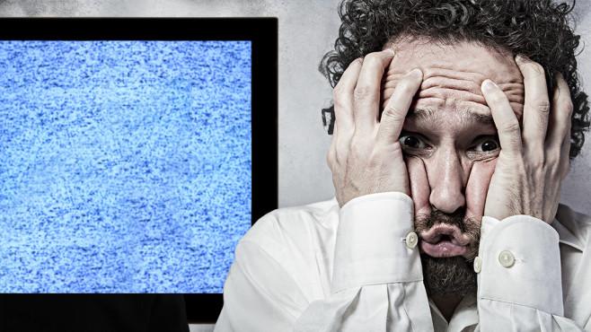 zu langen Gesichtern führen, wenn der Fernseher plötzlich kaputt ist ...