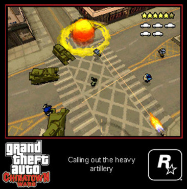 Actionspiel Grand Theft Auto – Chinatown Wars: Artillerie