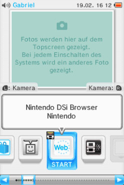 Nintendo DSi Web-Browser