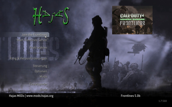 Actionspiel Call of Duty 4: Hauptmenü © Activision