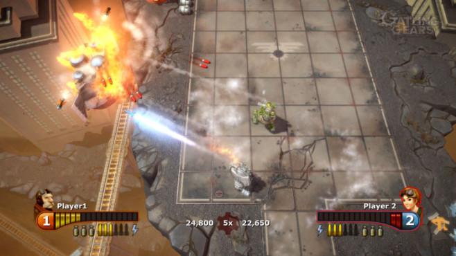 Actionspiel Gatling Gears: Beschuss