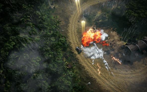 Actionspiel Renegade Ops: Lichtung ©Sega
