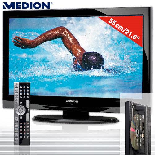 schn ppchen medion lcd tv mit dvd player und dvb t bei aldi nord audio video foto bild. Black Bedroom Furniture Sets. Home Design Ideas