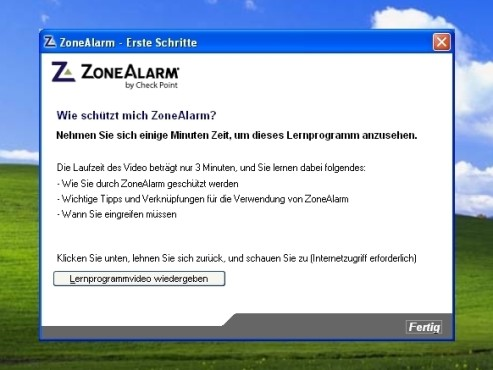 ZoneAlarm: Lernvideo