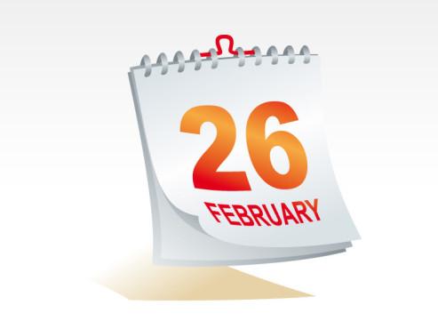 Kalenderblatt Abreißkalender