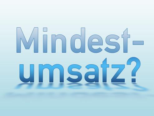 mindestumsatz
