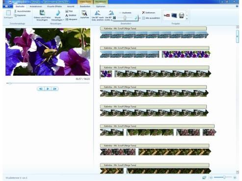 Microsoft Movie Maker 14 und DVD Maker: Videobearbeitung