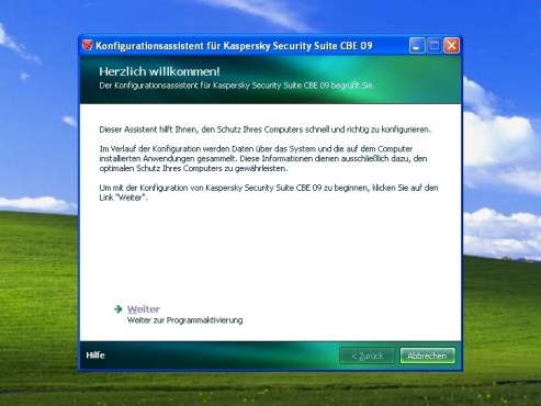 Konfigurationsassistent: Kaspersky Security Suite CBE 09