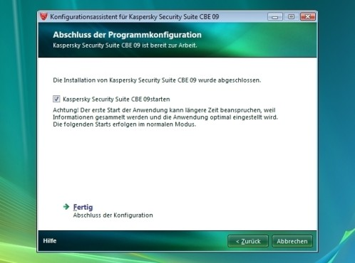 Konfiguration: Kaspersky Security Suite CBE 09