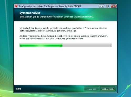 Systemüberprüfung: Kaspersky Security Suite CBE 09