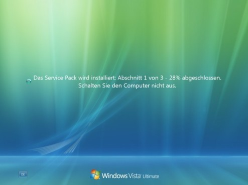 Windows Vista SP2: Schritt 1