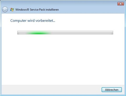 Windows Vista SP2: Vorbereitung