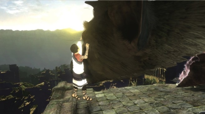 Actionspiel The Last Guardian: Streicheln © Sony