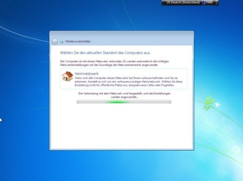Windows 7 Installation: Netzwerk