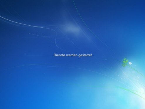 Windows 7 Installation: Neustart