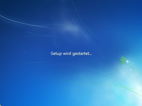 Windows 7 Installation: Starten
