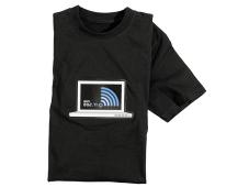 Infactory T-Shirt mit WLAN-Anzeige