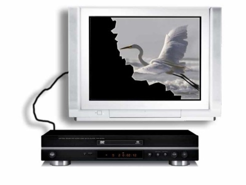 DVD-Player und TV