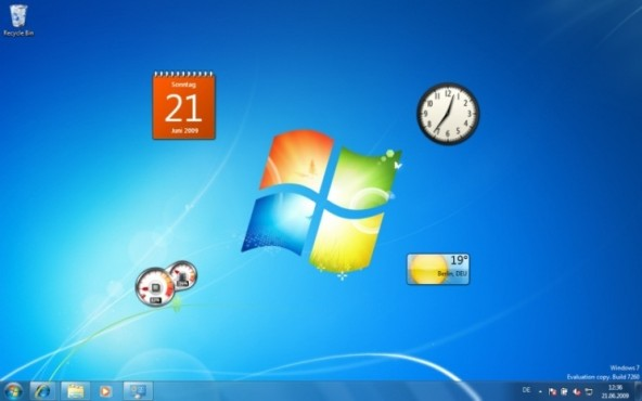 Windows 7: Desktop anzeigen