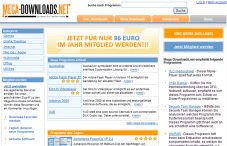 Screenshot von www.mega-downloads.net