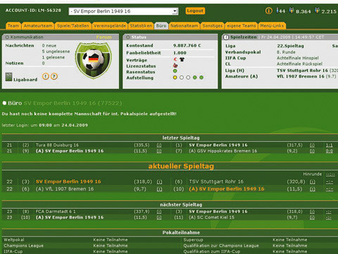 Browser-Spiele: Liga-Manager