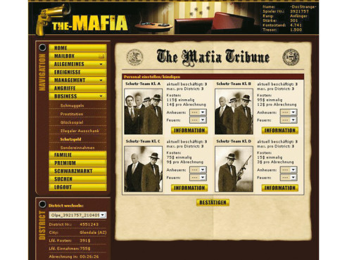 Browser-Spiele: The Mafia