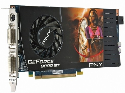 PNY Geforce 9800GT PCIe 512MB: Grafikkarte