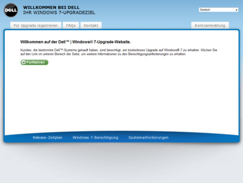 Windows-7-Gutschein-Aktion: Dell