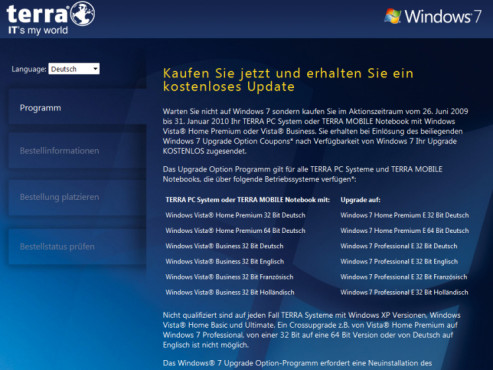 Windows-7-Gutschein-Aktion: Wortmann
