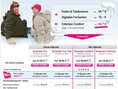 Bezahl-Sender T-Home Entertain © Telekom