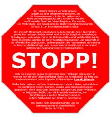 Stoppschild für Internetsperren