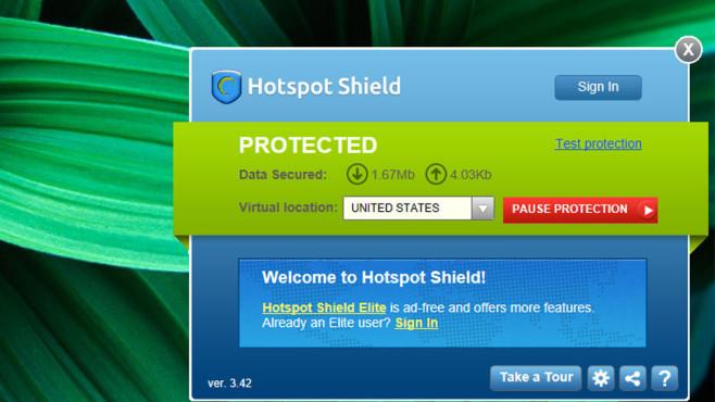 Hotspot Shield ©COMPUTER BILD