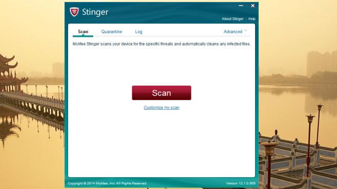 Malware entfernen: McAfee Labs Stinger ©COMPUTER BILD