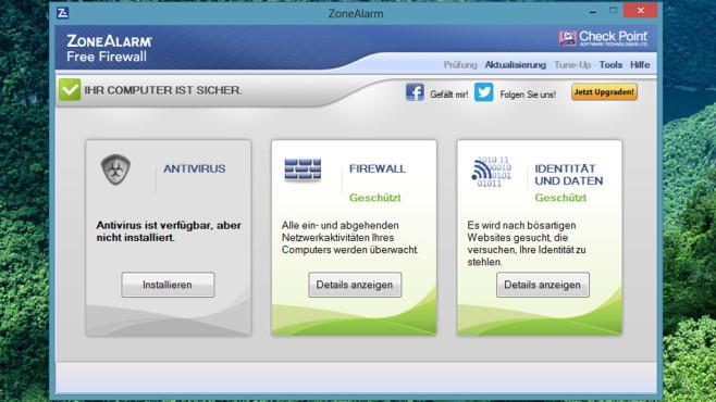 ZoneAlarm Free Firewall ©COMPUTER BILD