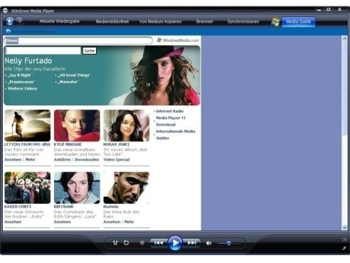 Windows Media Player: Musik- und Video-Player