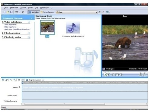 Windows Movie Maker: Videobearbeitungs-Software