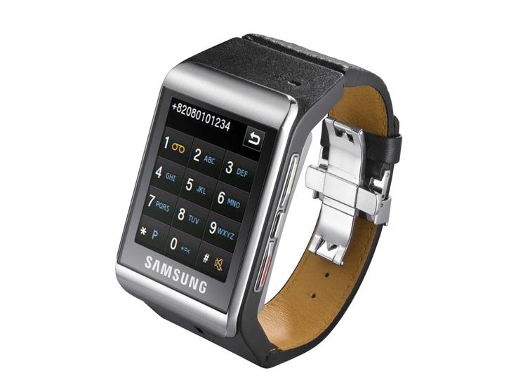 samsung watchphone s9110 armbanduhr handy mit touchscreen computer bild. Black Bedroom Furniture Sets. Home Design Ideas