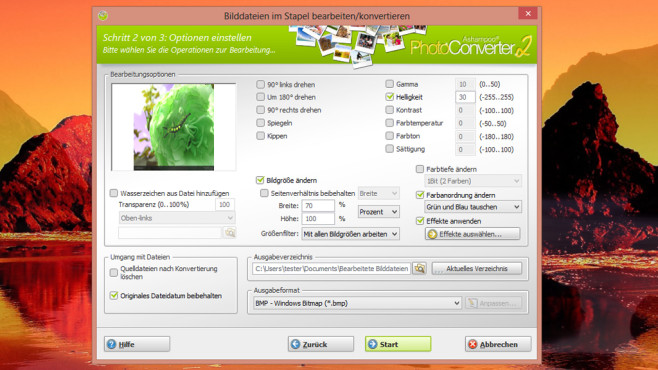 Ashampoo Photo Converter – Kostenlose Vollversion © COMPUTER BILD