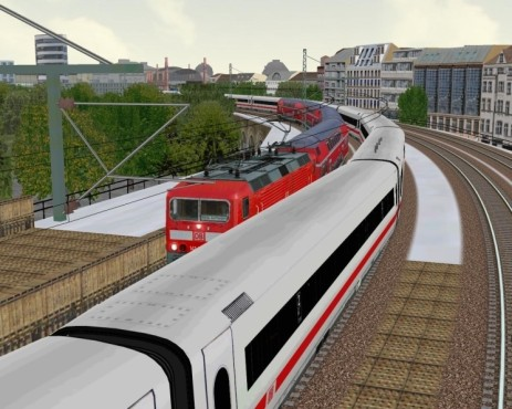 Simulation Pro Train 28: Zugkreuzung