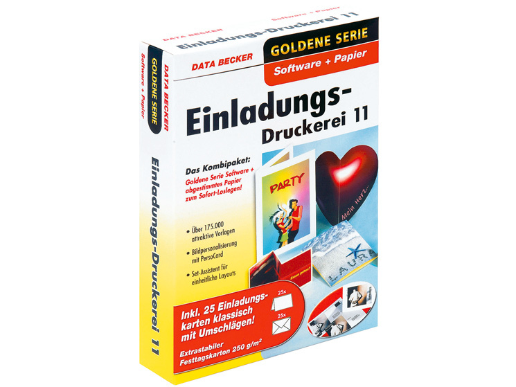 delightful einladungskarten software #1: Data Becker Einladungs-Druckerei 11