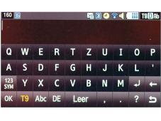 Samsung S8000 J�t Die Tastatur des S8000 bietet den Tipp-Fingern im Querformat gen�gend Platz.